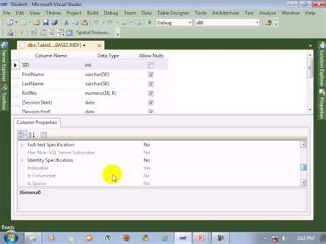 tutorial visual studio 2010 youtube visual studio 2010 tutorial create database youtube