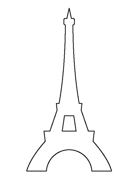 Pin By Muse Printables On Printable Patterns At Patternuniverse Com Pinterest Outlines Eiffel Tower Cake Template