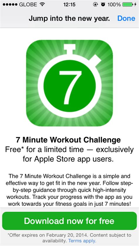challenge app get the 7 minute workout challenge app for free through