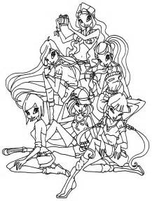 Winx Club Love Colouring Pages sketch template
