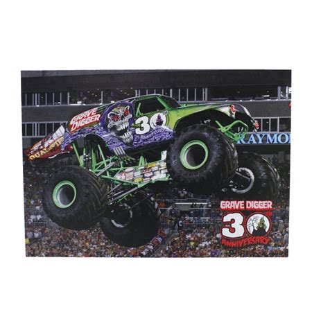 grave digger 30th anniversary truck grave digger 30th anniversary postcard