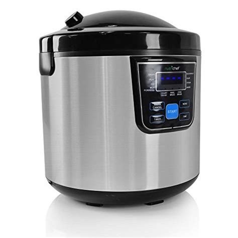 Promo Sanken Rice Cooker Stainless 6 In 1 Sj 3000 nutrichef pkmrc46 10 in 1 multi cooker rice soup bean 24hr dealy timer 6 quarts stainless steel
