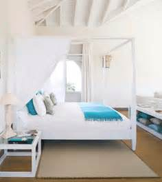 Beach House Bedrooms white turquoise bedroom canopy bed beach house bedroom