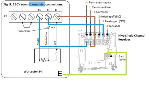 combi boiler thermostat wiring diagram circuit and