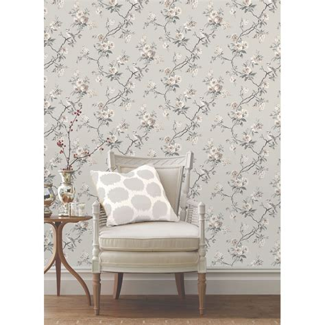 grey wallpaper on ebay grey wallpaper patterned stars floral feathers trees