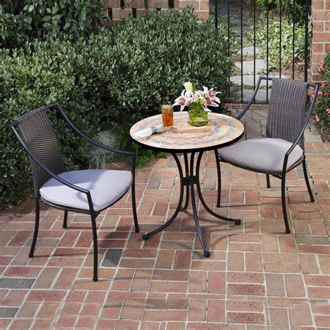 Shop Home Styles Terra Cotta 3 Piece Terra Cotta Tile 3 Patio Dining Set