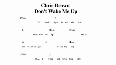 tutorial guitar wake me up chris brown don t wake me up guitar chords youtube