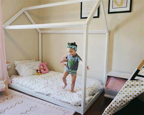Toddler Floor Bed Frame Montessori Furniture Montessori Room Farmhouse Floor Bed