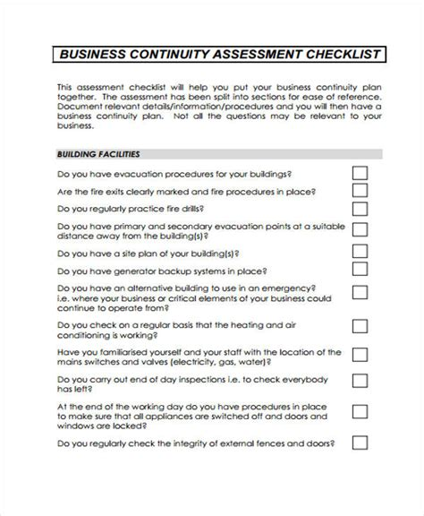 business continuity checklist template business checklist templates 10 free word pdf format free premium templates