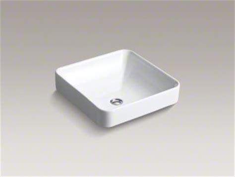kohler vox vessel kohler vox square vessel sink bathroom sinks by kohler