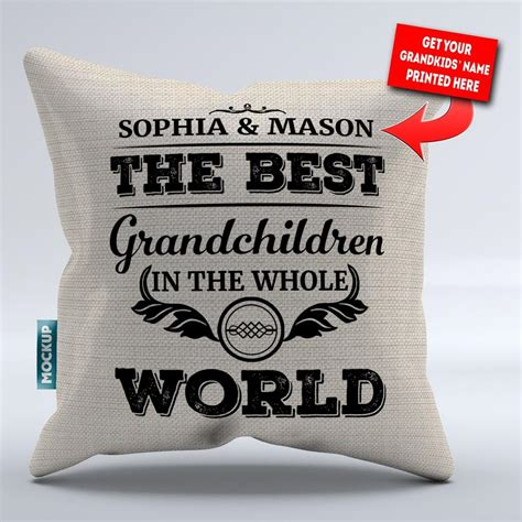 Best Pillows In The World by Personalized Best Grandchildren In The World Pillowcover