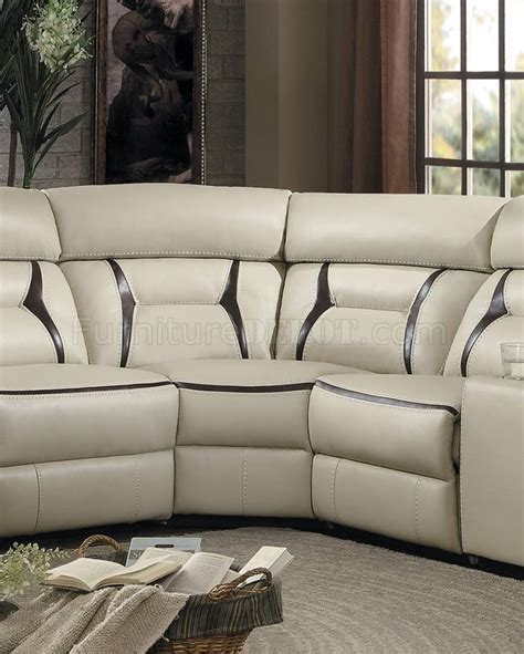 Amite Furniture by Amite Power Motion Sectional Sofa 8229 In Beige By Homelegance