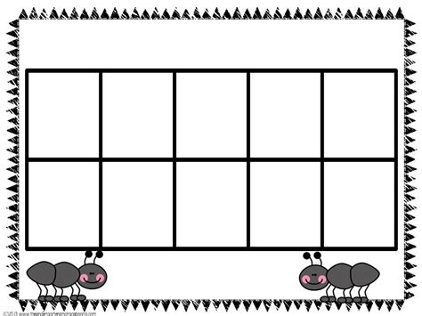 10 Frame Mats - search ten frames math and kindergarten smorgasboard