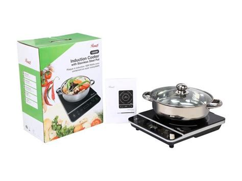 induction cooker watt rosewill rhai 13001 1800 watt induction cooker cooktop with stainless steel pot ebay