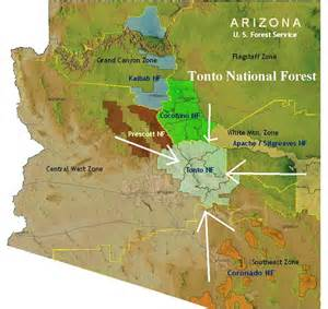 arizona national forest map archaeology survey in tonto forest arizona