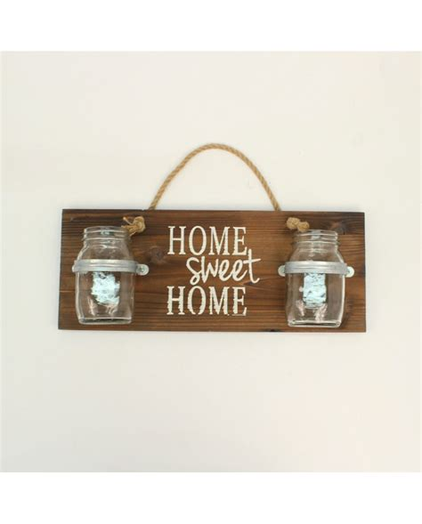western moments 174 quot home sweet home quot jar wall decor fort