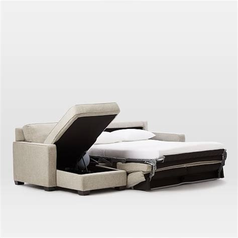 modern sofa bed with chaise henry 174 2 piece pull down sleeper sectional w storage