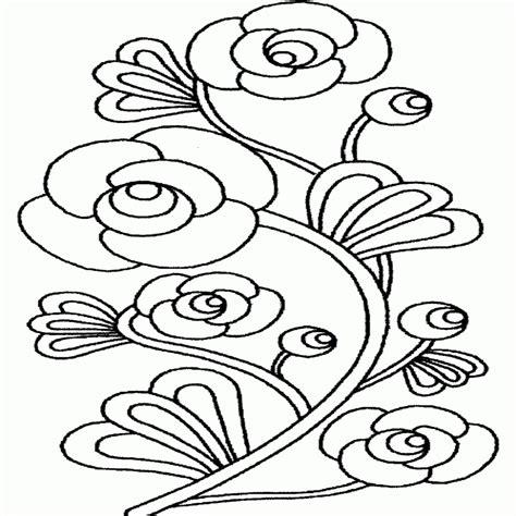 disegni da colorare fiori e farfalle disegni di fiori stilizzati