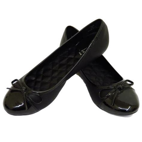 black flat work shoes flat black slip on comfy work shoes dolly ballet