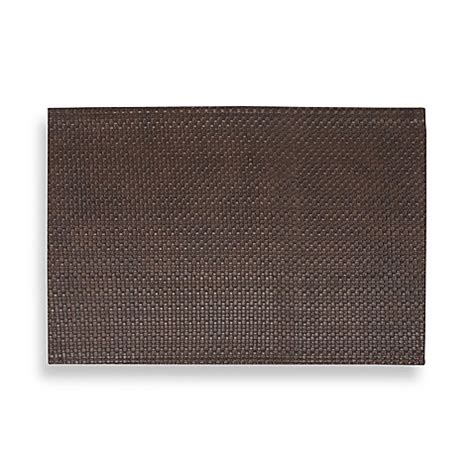 bed bath and beyond placemats dakota faux leather placemat in brown bed bath beyond