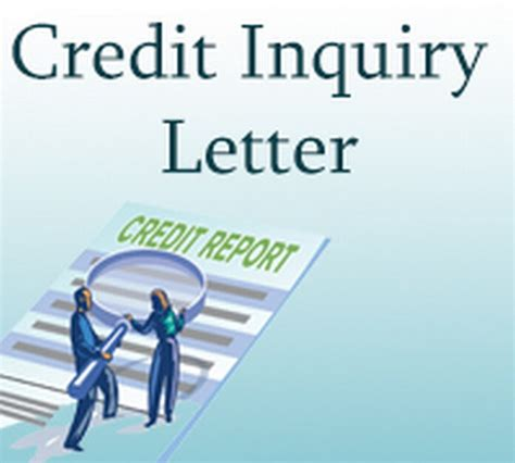 Credit Letter Inquiry Credit Inquiry Letter