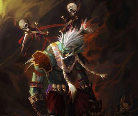 wallpaper world  warcraft artwork skulls troll shaman