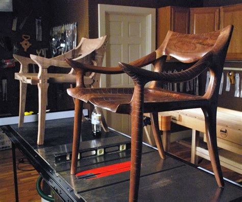 maloof inspired   dining chair dvd project