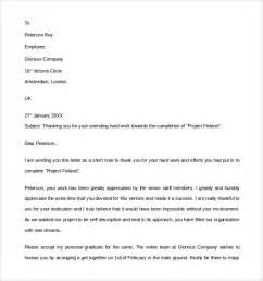 sle thank you letter to employer 18 free