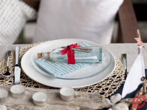 tavole di mare la decorazione tavola per la cena alla marinara casa e trend