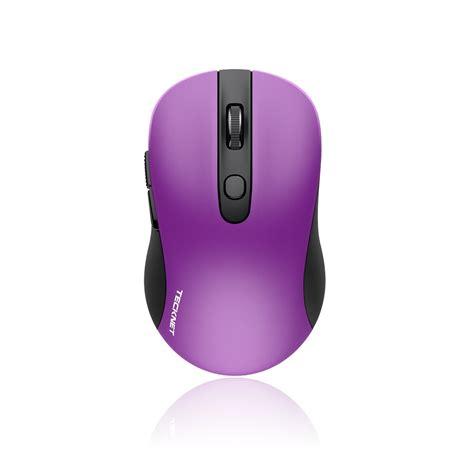 miniature wireless tecknet m001 purple 2 4g mini wireless mouse