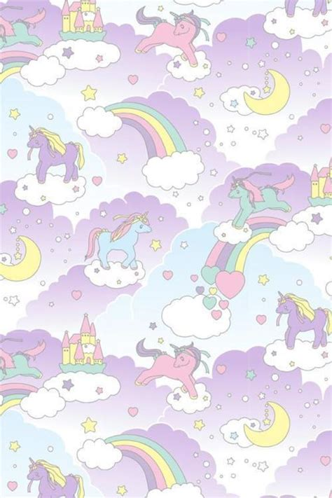 unicorn pattern background x via tumblr scrapbook pinterest unicorns kawaii