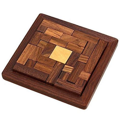 handmade indian wood jigsaw puzzle wooden toys for