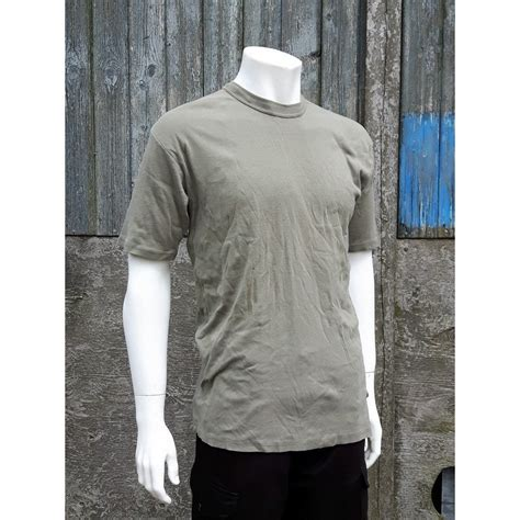 Murah Tactical T Shirt Green Olive Grey Cotton Combed 20s Genuine Surplus Austrian Heavyweight Cotton T Shirt Olive