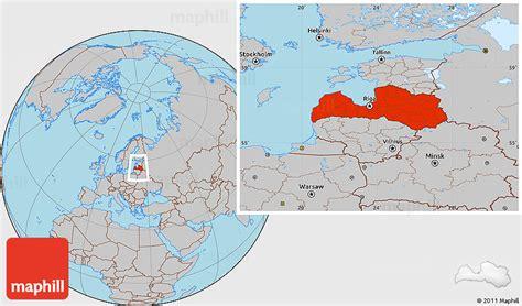 latvia on the world map gray location map of latvia