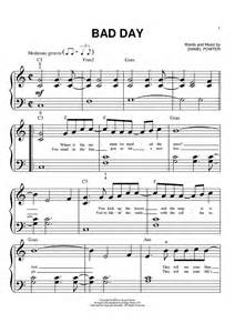 day songs free bad day sheet for piano and more