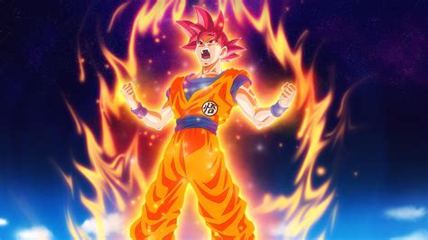 dragon ball fire art illustration hero anime wallpaper