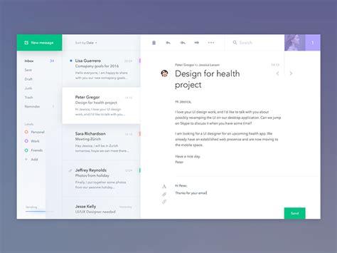 design email application email application design inspiration december 2016