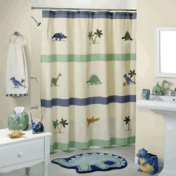 dinosaur bathroom decor shower curtains for boys interior design styles