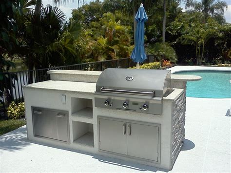 Custom Outdoor Kitchen Grill Island In Florida Gas Grills Parts Fireplaces And