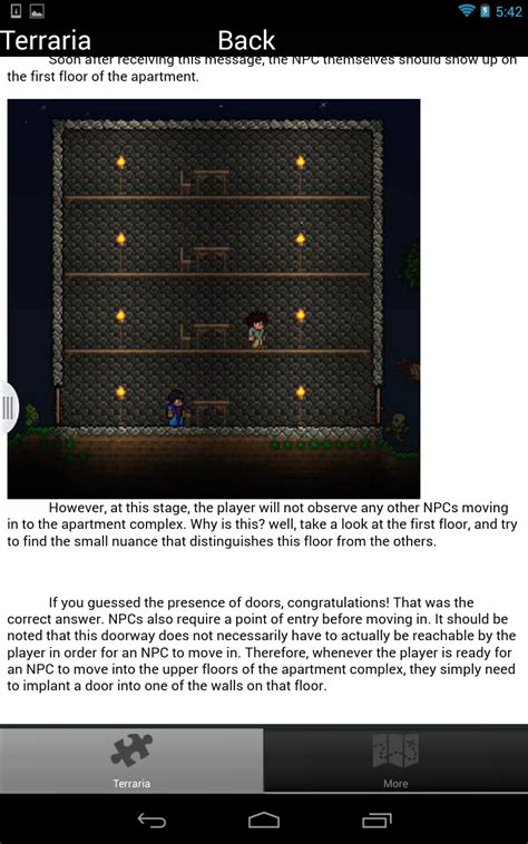 terraria android cheats cheats for terraria tips tricks house builder guide it appstore per android