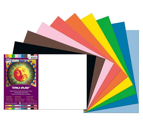 colored construction paper buy construction paper 12x18 asst colors 50 sheet
