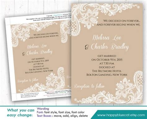 Diy Printable Wedding Invitation Template Instant Download Editable Text Rustic Burlap Editable Wedding Invitation Templates
