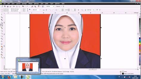 tutorial edit foto coreldraw cara mengganti background pas foto mudah dengan coreldraw
