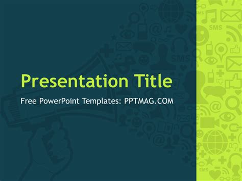 Free Digital Marketing Powerpoint Template Pptmag Powerpoint Advertising Templates