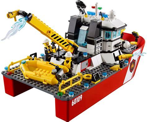 lego rescue boat lego 60109 fire boat