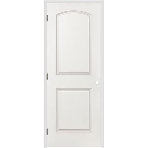 26 Prehung Interior Door Shop Reliabilt 2 Panel Top Hollow Smooth Molded Composite Right Interior Single