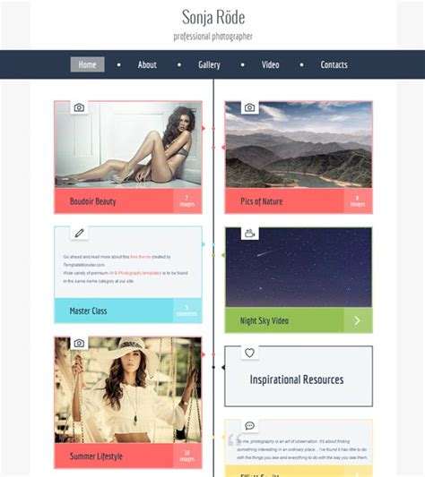 70 best photography website templates free premium