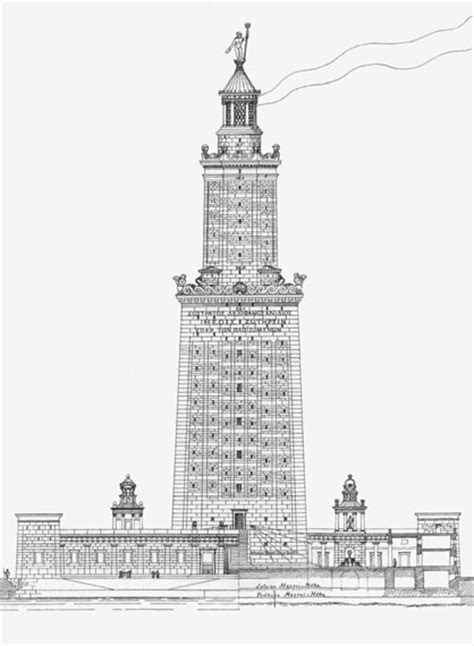 coloring pages of lighthouse of alexandria free coloring pages