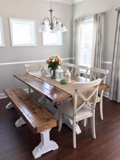 best 10 farmhouse table with bench ideas on
