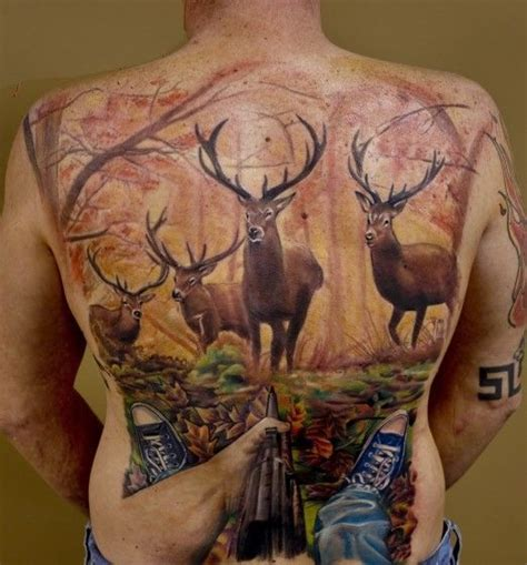 deer hunter tattoo design best deer tattoos piercings